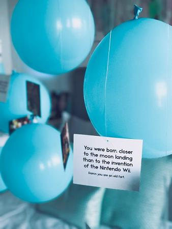 Birth Records with balloons